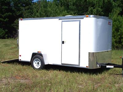 6x12 Flat Front Enclosed Trailer Trailer Id F2640 Xtra