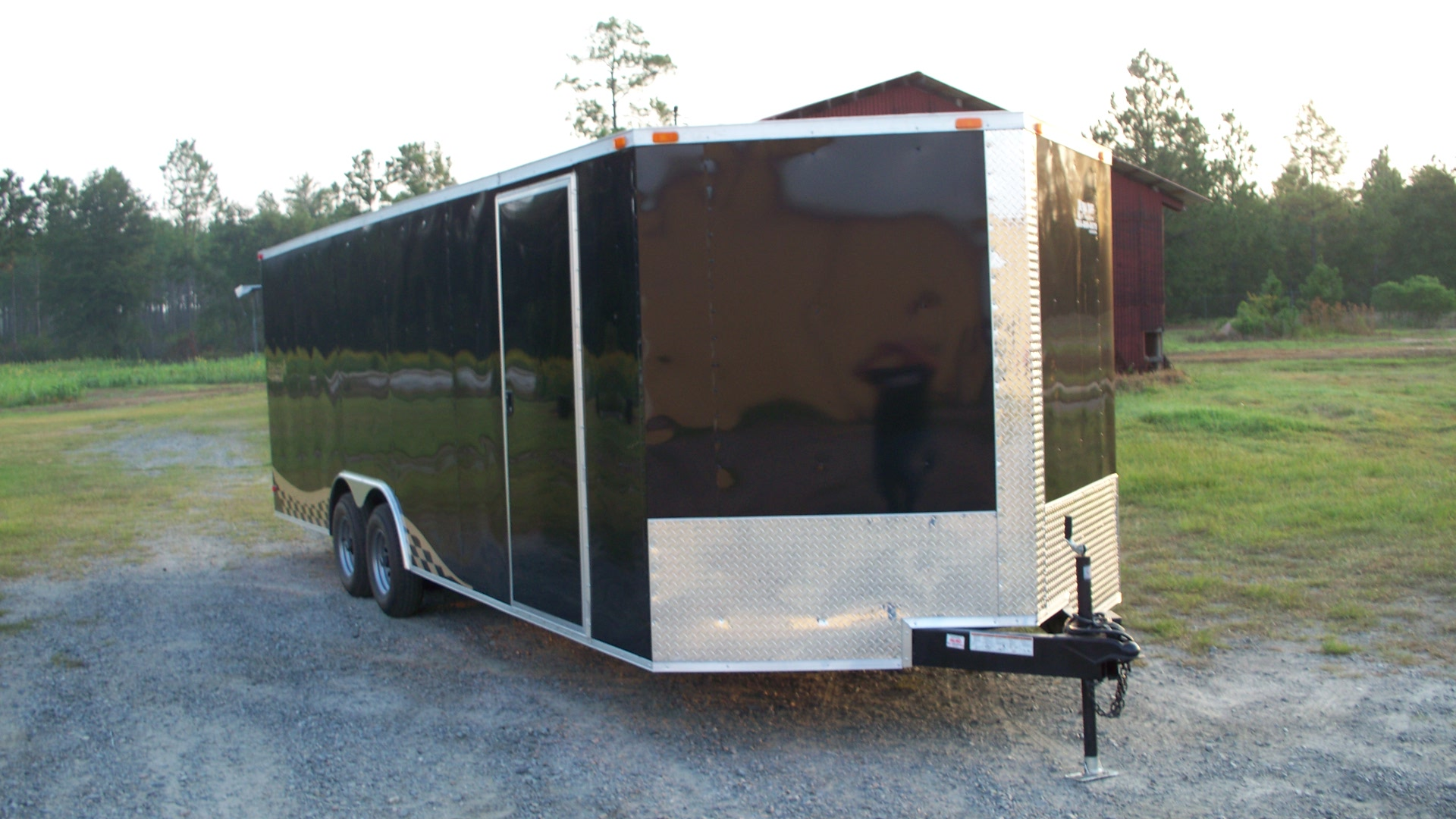 8 5x26 V Nose 5200lb Axles And Graphics Trailer Id 3060